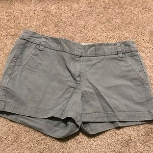 Light teal colored shorts
